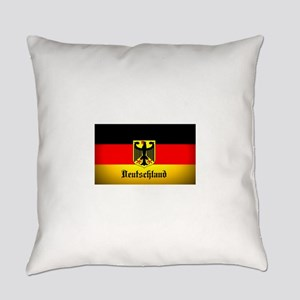 Deutschland Flag Coat of Arms Everyday Pillow