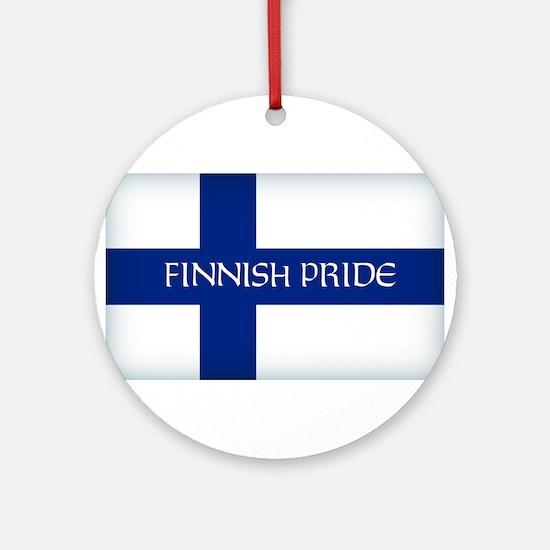 Finnish Pride Round Ornament