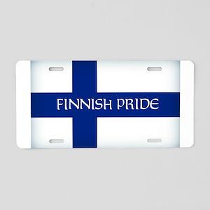 Finnish Pride Aluminum License Plate