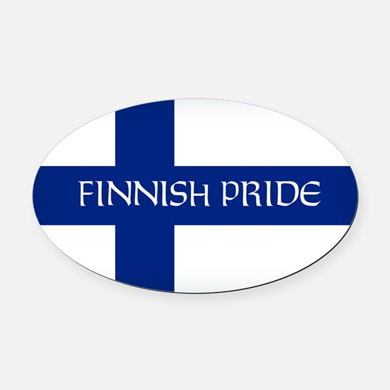 Finnish Pride Oval Car Magnet