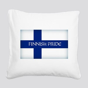 Finnish Pride Square Canvas Pillow