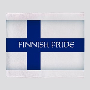 Finnish Pride Throw Blanket
