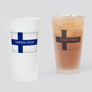 Finnish Pride Drinking Glass