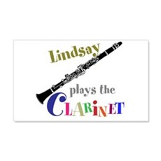 Your Name Plays The Clarinet Wall Decal