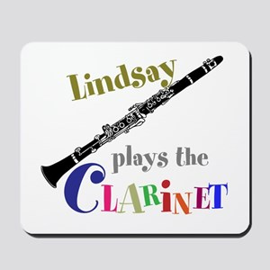Your Name Plays The Clarinet Mousepad