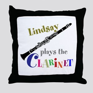 Your Name Plays The Clarinet Throw Pillow