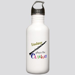 Your Name Plays The Clarinet Water Bottle