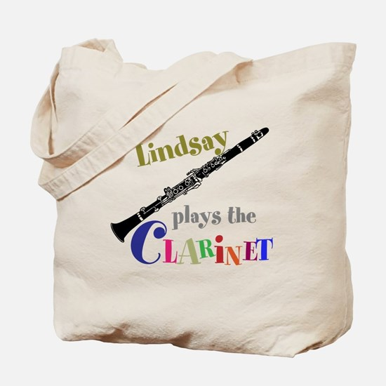Your Name Plays The Clarinet Tote Bag
