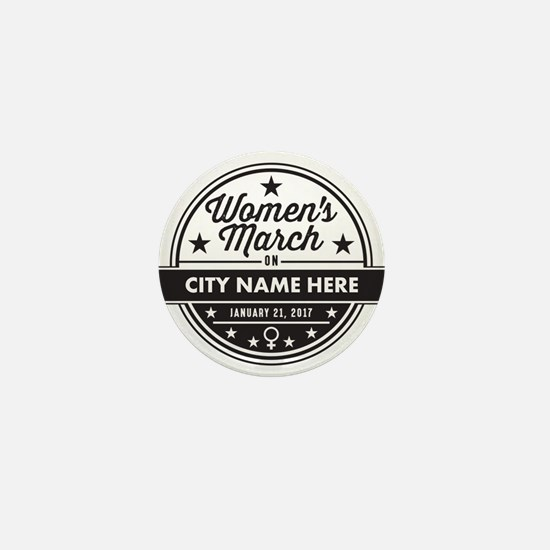Womens March Personalized Mini Button