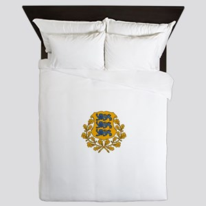 Estonian Coat of Arms Queen Duvet