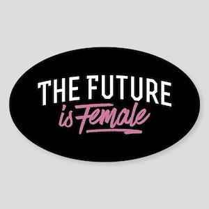 The Future Is Female Sticker (Oval)