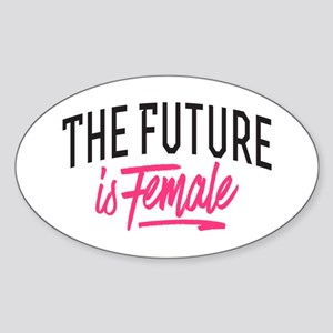 The Future Is Female Sticker (Oval)