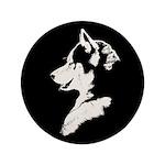 "Husky Puppy 3.5"" Button (100 pack)"