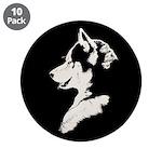 "Husky Puppy 3.5"" Button (10 pack)"