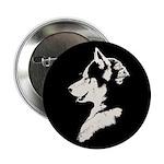 "Husky Puppy 2.25"" Button (100 pack)"