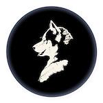 Husky Puppy Round Car Magnet