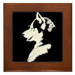 Husky Puppy Framed Tile