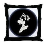 Husky Puppy Throw Pillow