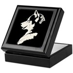 Husky Puppy Keepsake Box
