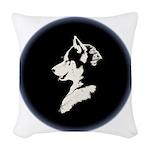 Husky Puppy Woven Throw Pillow