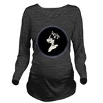 Husky Puppy Long Sleeve Maternity T-Shirt