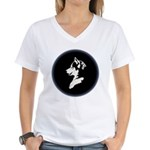 Husky Puppy Women's V-Neck T-Shirt