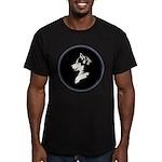 Husky Puppy Men's Fitted T-Shirt (dark)