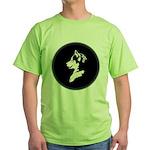 Husky Puppy Green T-Shirt
