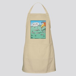 Bird Catches Worm BBQ Apron