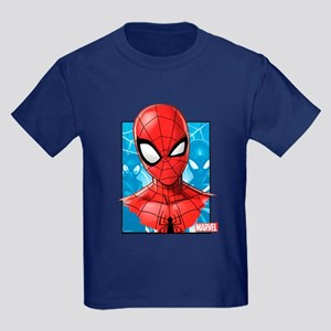 Spider-Man Face Kids Dark T-Shirt