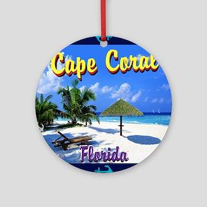 Cape Coral Florida Round Ornament