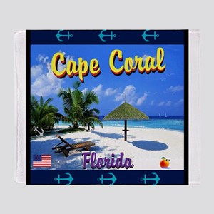 Cape Coral Florida Throw Blanket