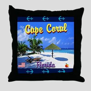 Cape Coral Florida Throw Pillow