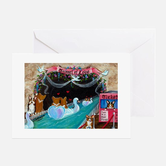 Corgi Tunnel Of Love Greeting Cards