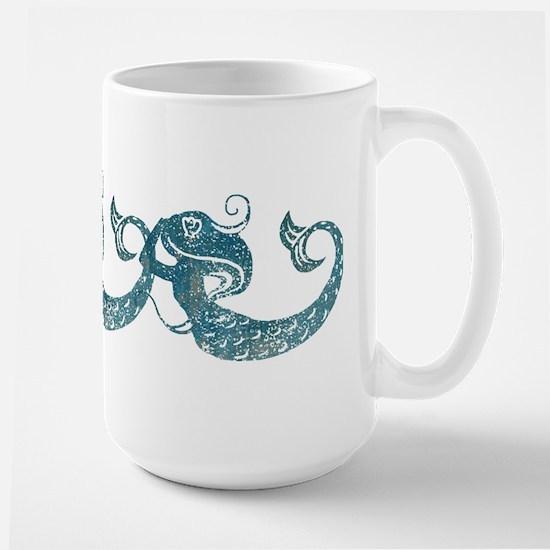 Worn Mermaid Graphic Mugs