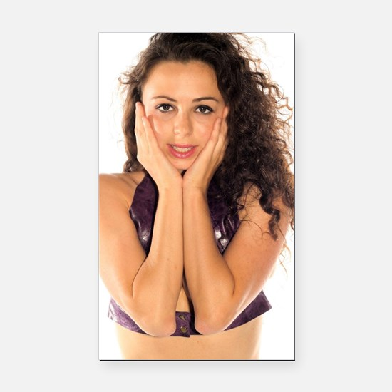 Cute Attractive woman Rectangle Car Magnet