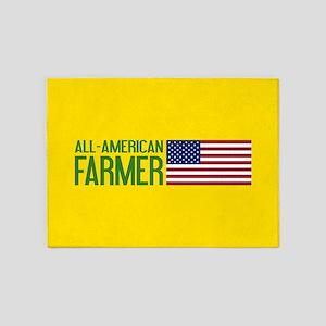 Farmer: All-American (Yellow) 5'x7'Area Rug