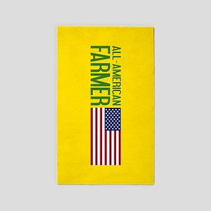 Farmer: All-American (Yellow) Area Rug