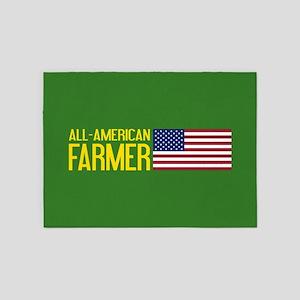 Farmer: All-American (Green) 5'x7'Area Rug