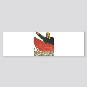 Vladimir Lenin soviet propaganda Bumper Sticker