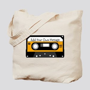Personalized Cassette Tote Bag