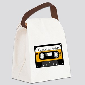 Personalized Cassette Canvas Lunch Bag