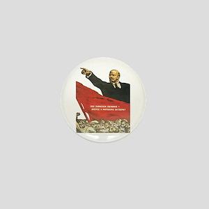 Vladimir Lenin soviet propaganda Mini Button