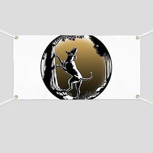 Hound Dog Art Hunting Dog Banner