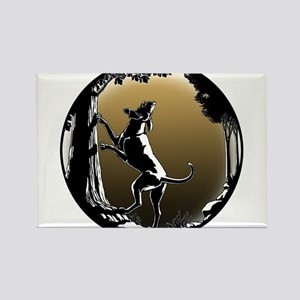 Hound Dog Art Hunting Dog Magnets