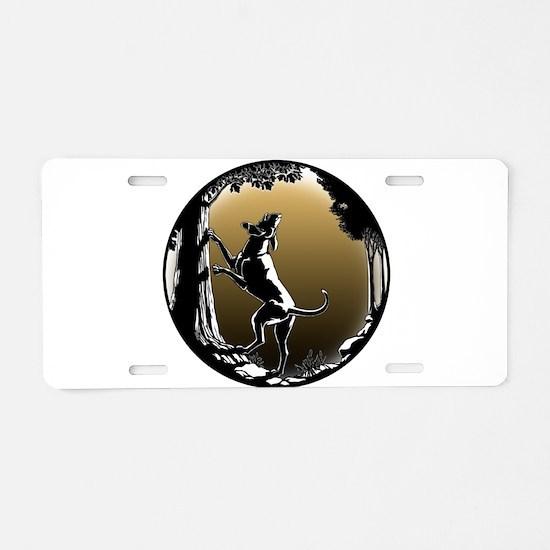 Hound Dog Art Hunting Dog Aluminum License Plate