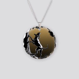 Hound Dog Art Hunting Dog Necklace Circle Charm