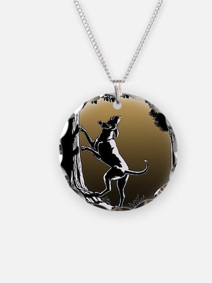 Hound Dog Art Hunting Dog Necklace Circle Charm