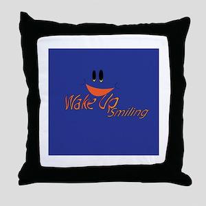 Wake Up Smiling Throw Pillow