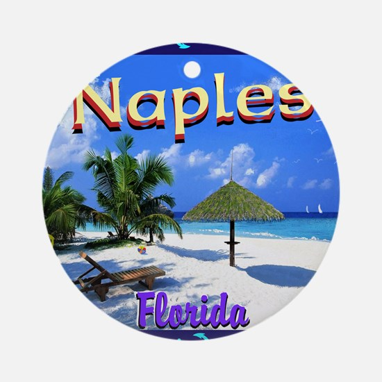 Naples Florida Round Ornament